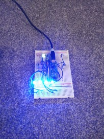 LED breadboard testing (brightest)